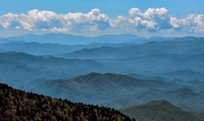 Blue On Blue - Great Smoky Mountains Art Print