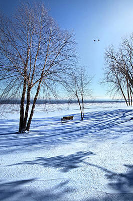 Print featuring the photograph Blue On Blue by Phil Koch