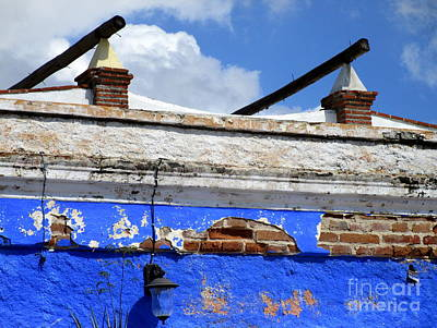 Photograph - Blue On Brick by Randall Weidner