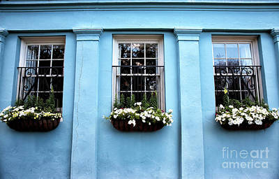 Photograph - Blue On Rainbow Row by John Rizzuto