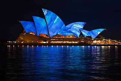 Opera House Photograph - Blue Opera by John Buxton