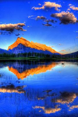 Photograph - Blue Orange Mountain by Test Testerton