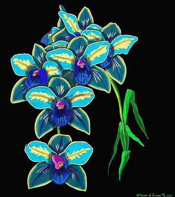 Painting - Blue Orchid  by ThomasE Jensen