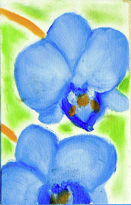 Painting - Blue Orchids  by Loretta Nash