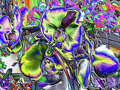 Digital Art - Blue Orchids by Vickie G Buccini
