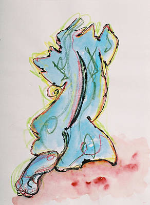 Blue Art Print by Oudi Arroni