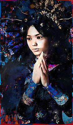 Painting - Blue Our Lady Of China by Suzanne Silvir