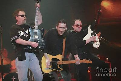 Photograph - Blue Oyster Cult Oil Painting Enlargements by Concert Photos