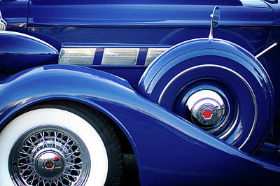 Photograph - Blue Packard by Bud Simpson