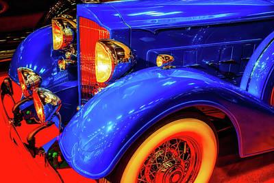 Photograph - Blue Packard Super Eight by Garry Gay