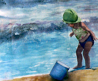Painting - Blue Pail by Lynne Atwood