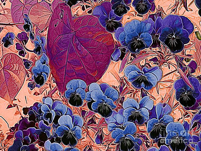 Photograph - Blue Pansies by Erica Hanel