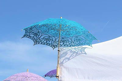 Photograph - Blue Parasol by Viktor Savchenko