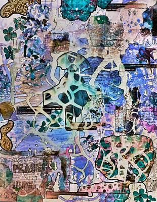 Digital Art - Blue Pathways by Jan Steadman-Jackson