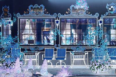 Photograph - Blue Patio by Frank Townsley