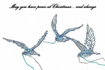 Photograph - Blue Peace Doves by Ellen O'Reilly