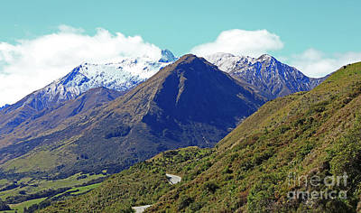 Photograph - Blue Peak On The Road To Glenorchy by Nareeta Martin