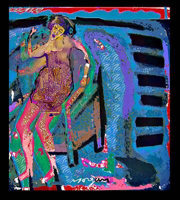 Blue Piano  Art Print