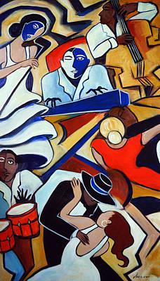 Blue Piano Red Bongos Original