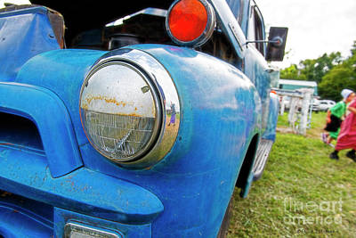 Photograph - Blue Pickup Truck by David Arment