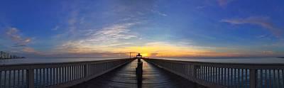 Photograph - Blue Pier  by Juan Montalvo