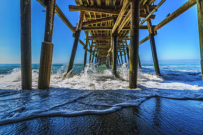 Photograph - Blue Pier by LiveforBlu Gallery