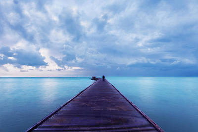 Photograph - Blue Pier by Scott Meyer