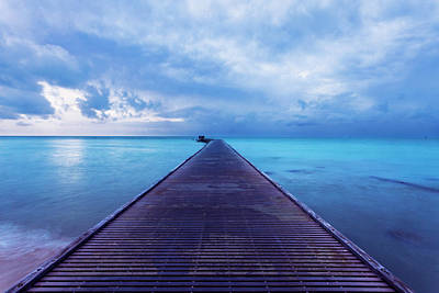 Photograph - Blue Pier Two by Scott Meyer
