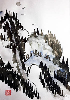 Painting - Blue Pine Ridge by Casey Shannon