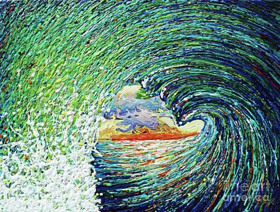 Blue Pipeline Art Print by Gayle Utter
