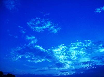 Photograph - Blue Pistol Cloud by Robin Coaker