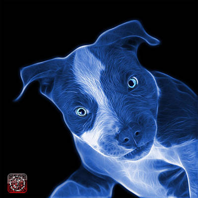 Painting - Blue Pitbull 7435 - Bb by James Ahn