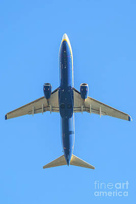 Photograph - Blue Plane In The Sky by Benny Marty
