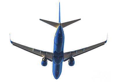 Photograph - Blue Plane Takeoff by Benny Marty