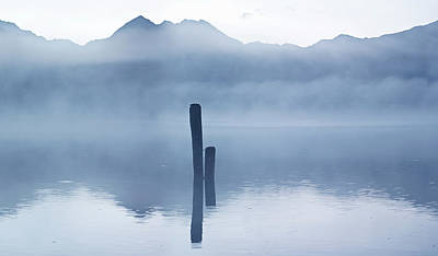 Photograph - Blue Poles Kinloch Nz by Odille Esmonde-Morgan