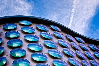 Photograph - Blue Polka-dot Wave by Christopher Holmes