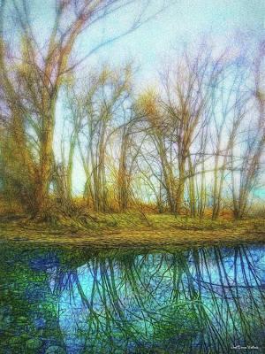 Digital Art - Blue Pond Dream by Joel Bruce Wallach