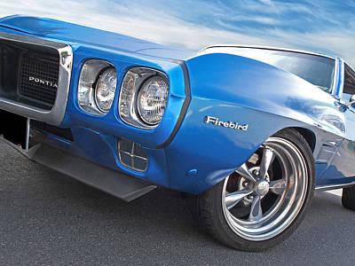 Photograph - Blue Pontiac Firebird by Gill Billington