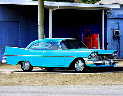 Photograph - Blue Pontiac by Kimberly-Ann Talbert