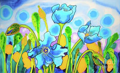 Painting - Blue Poppies 1 Belize by Lee Vanderwalker