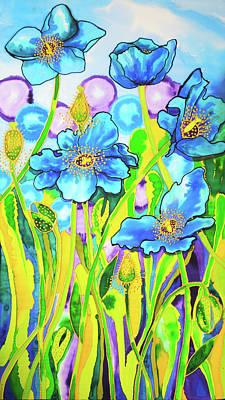 Painting - Blue Poppies 2 Belize by Lee Vanderwalker