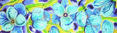Painting - Blue Poppies 6 Belize by Lee Vanderwalker