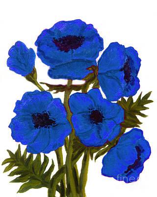 Painting - Blue Poppies by Irina Afonskaya