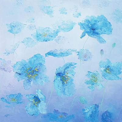 Painting - Blue Poppies by Jan Matson