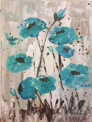 Painting - Blue Poppies by Lucia Grilletto