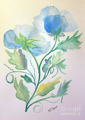 Painting - Blue Poppies by Maria Urso
