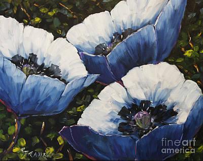 Blue Poppies Original by Richard T Pranke