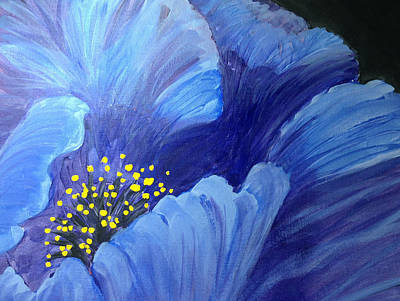 Painting - Blue Poppy by Judy Fischer Walton