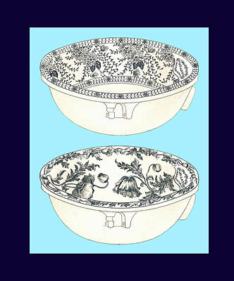 Blue Porcelain Bowl One Art Print by Eric Kempson