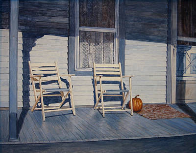Blue Porch With Chairs Original